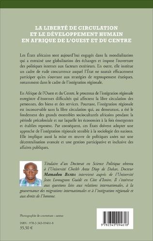 4eme La liberté de circulation et le développement humain en Afrique de l'Ouest et du Centre