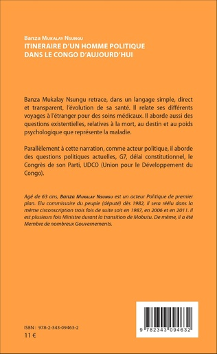 4eme Itinéraire d'un homme politique dans le Congo d'aujourd'hui
