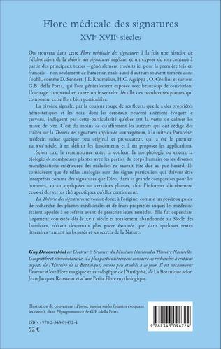 4eme Flore médicale des signatures XVIe - XVIIe siècles