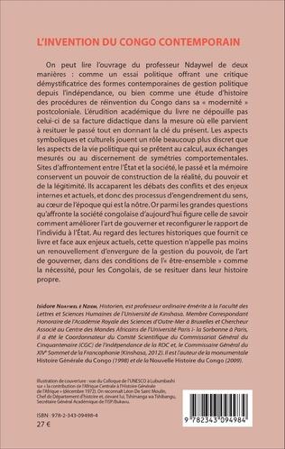 4eme L'invention du Congo contemporain