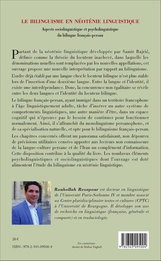 4eme Le bilinguisme en néoténie linguistique