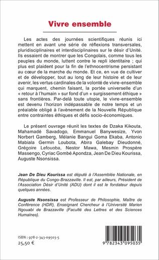 4eme Vivre ensemble. Quelles perspectives au Congo ?
