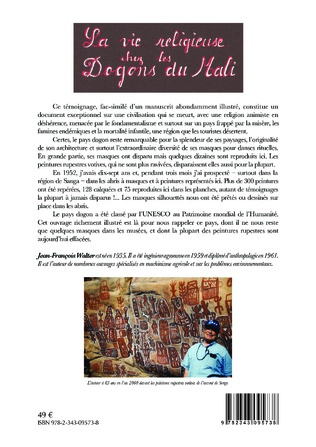 4eme La vie religieuse chez les Dogons du Mali. Témoignages recueillis en 1952