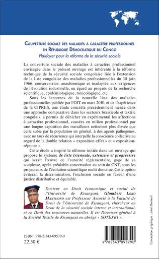 4eme Couverture sociale des maladies à caractère professionnel en République Démocratique du Congo