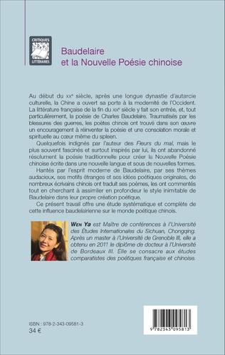 4eme Baudelaire et la Nouvelle Poésie chinoise