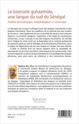 4eme Le baynunk guñaamolo, une langue du sud de Sénégal
