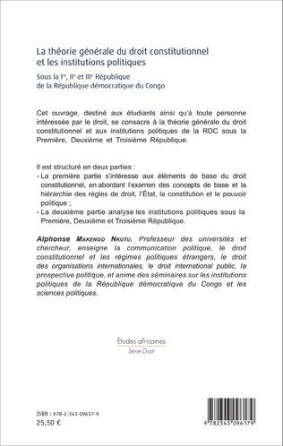 4eme La théorie générale du droit constitutionnel et les institutions politiques