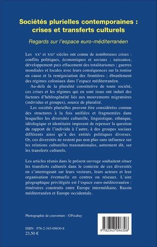 4eme Sociétés plurielles contemporaines : crises et transferts culturels