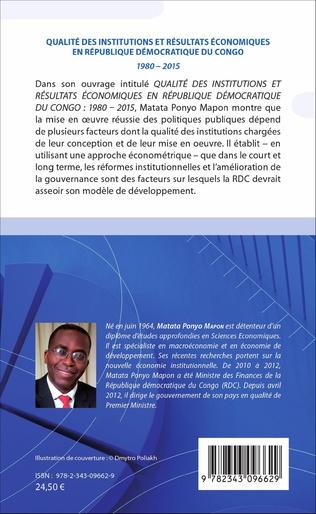 4eme Qualité des institutions et résultats économiques en République démocratique du Congo