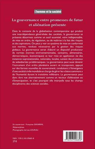 4eme La gouvernance entre promesses de futur et aliénation présente