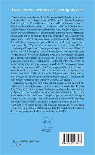 4eme Les collectivités territoriales et le principe d'égalité