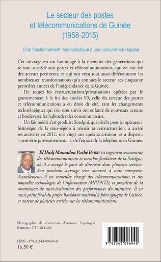 4eme Le secteur des postes et télécommunications de Guinée (1958-2015)