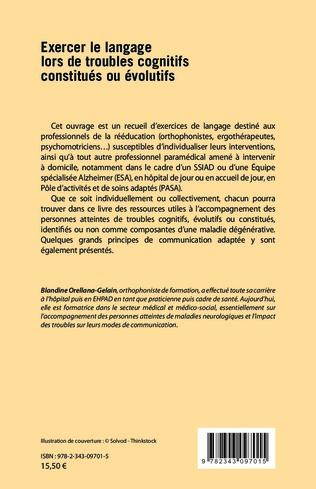 4eme Exercer le langage lors de troubles cognitifs constitués ou évolutifs