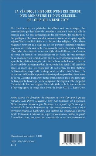 4eme La véridique histoire d'une religieuse, d'un monastère et d'un cercueil, de Louis XIII à René Coty