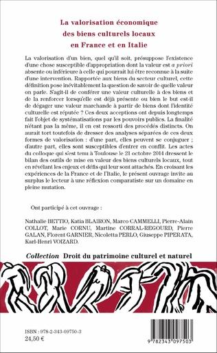 4eme La valorisation économique des biens culturels locaux en France et en Italie