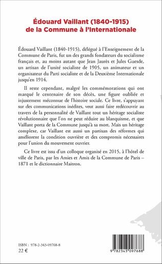 4eme Edouard Vaillant (1840-1915) de la Commune à l'internationale