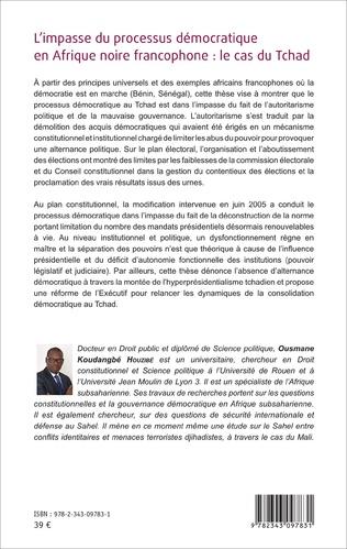 4eme L'impasse du processus démocratique en Afrique noire francophone : le cas du Tchad