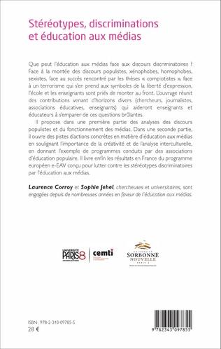 4eme Stéréotypes, discriminations et éducation aux médias