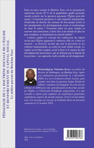 4eme Pédagogie de la doctrine sociale de l'église et renforcement du capital social