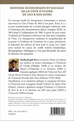 4eme Histoire économique et sociale de la Côte d'Ivoire de 1843 à nos jours