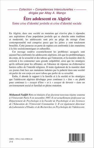 4eme Être adolescent en Algérie