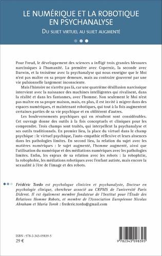 4eme Le numérique et la robotique en psychanalyse