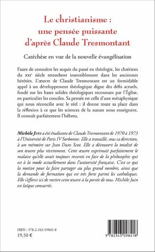4eme Le christianisme : une pensée puissante d'après Claude Tresmontant