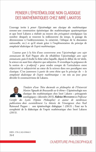 4eme Penser l'épistémologie non classique des mathématiques chez Imré Lakatos