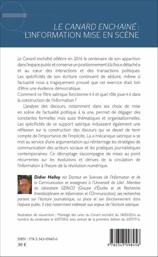 4eme <em>Le canard enchaîné</em>: L'information mise en scène