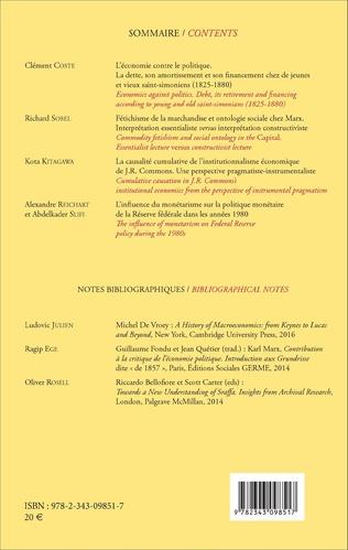 4eme Cahiers d'économie politique 70