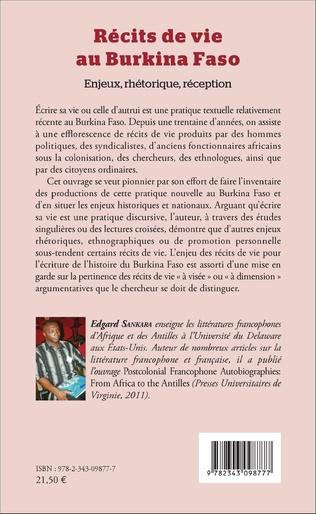 4eme Récits de vie au Burkina Faso