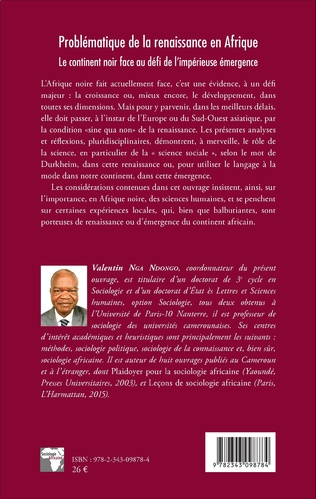 4eme Problématique de la renaissance en Afrique