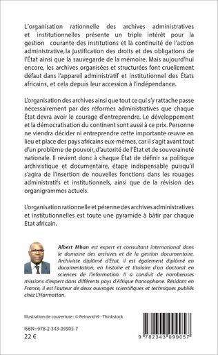 4eme Les Archives administratives dans les Etats Africains