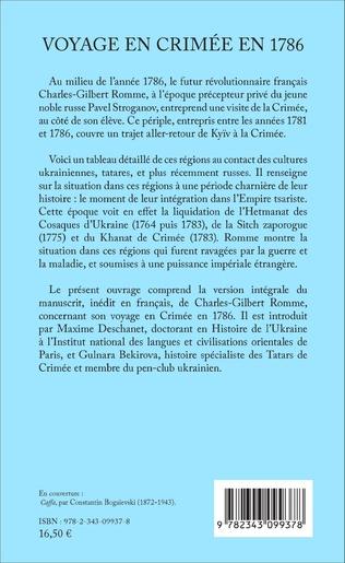 4eme Voyage en Crimée en 1786