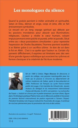 4eme Les monologues du silence. Poèmes