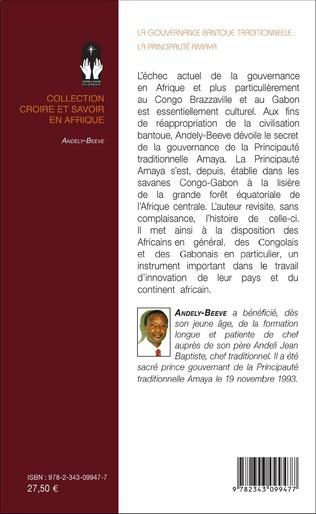 4eme La gouvernance bantoue traditionnelle : la Principauté Amaya