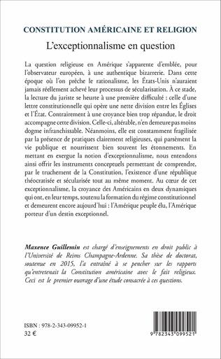 4eme Constitution américaine et religion