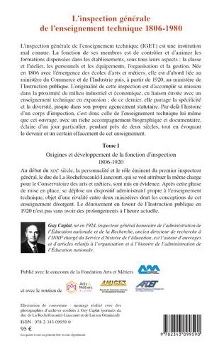 4eme L'inspection générale de l'enseignement technique (1806-1980)