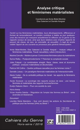4eme Analyse critique et féminismes matérialistes