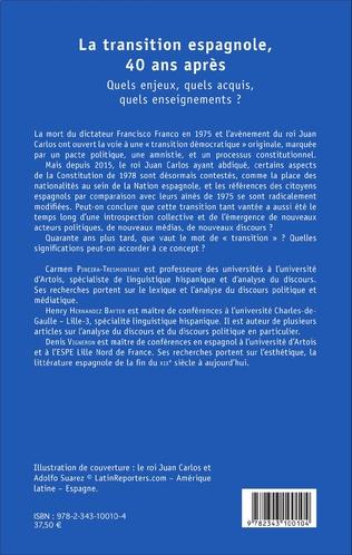 4eme La transition espagnole, 40 ans après