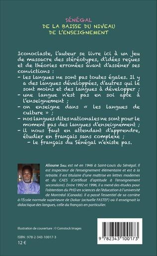 4eme Sénégal de la baisse du niveau de l'enseignement