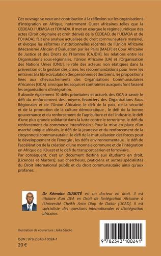 4eme Droit de l'intégration africaine