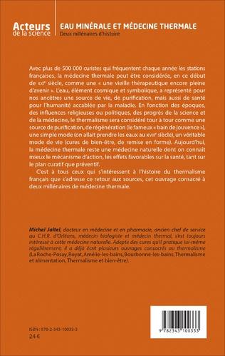 4eme Eau minérale et médecine thermale