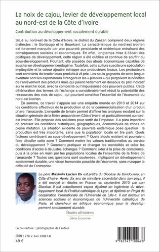 4eme La noix de cajou, levier de développement local au nord-est de la Côte d'Ivoire