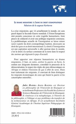 4eme Le drame migratoire à l'aune du droit cosmolitique