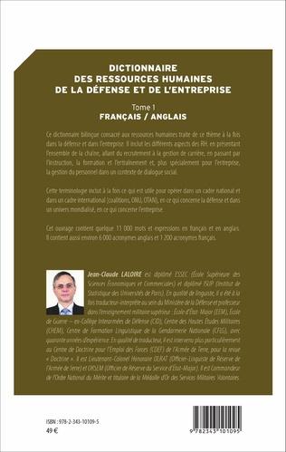 4eme Dictionnaire des ressources humaines de la défense et de l'entreprise