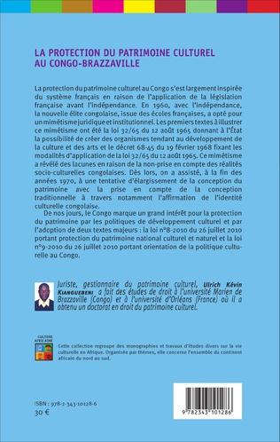 4eme La protection du patrimoine culturel au Congo-Brazzaville