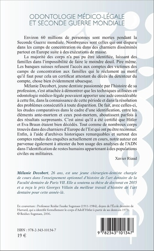 4eme Odontologie médico-légale et seconde guerre mondiale