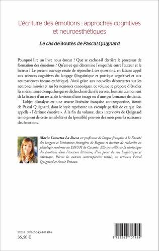 4eme L'écriture des émotions : approches cognitives et neuroesthétiques
