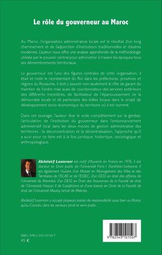 4eme Le rôle du gouverneur au Maroc